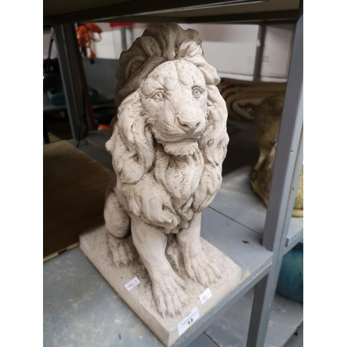 15 - Medium sitting lion...