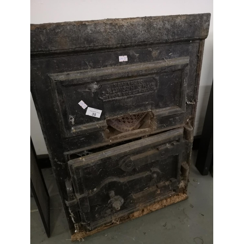 35 - Vintage Cast Iron Bread Oven made by E Hughes of Carnarvon...