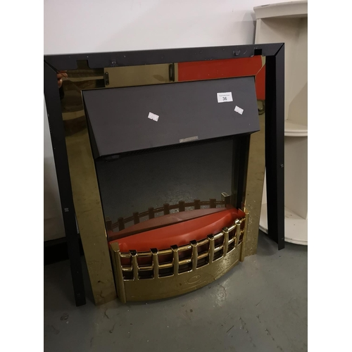 36 - Fuel effect inset electric fire...