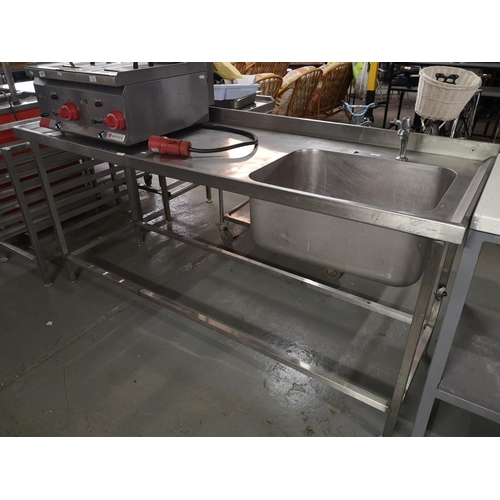 38 - S/Steel Sink Unit 700 X 2000mm...