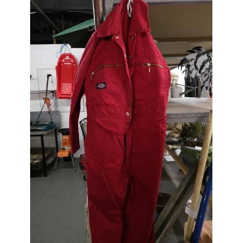 54 - Children's red dickies overalls...