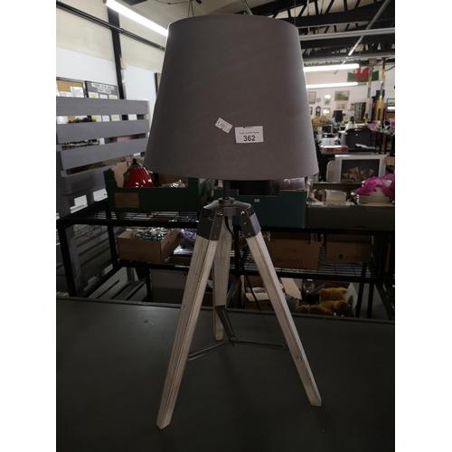 362 - Swedish style tripod lamp in grey...