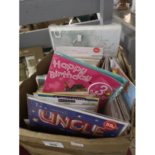 366 - Box of assorted greeting cards...
