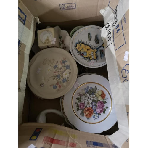 388 - Box of assorted China including Poole pottery...