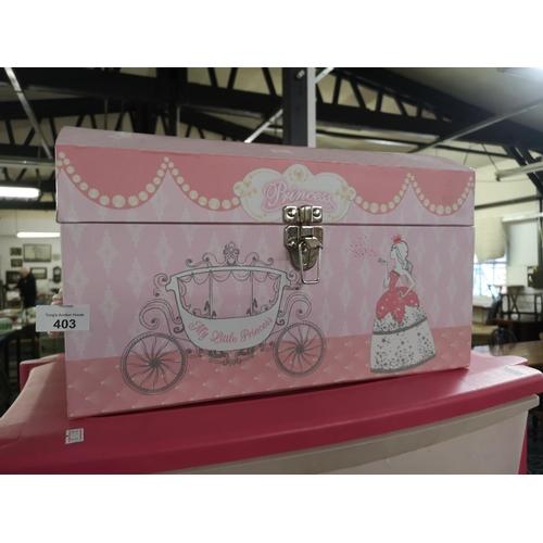 403 - 2 x princess boxes and one hello kitty box...