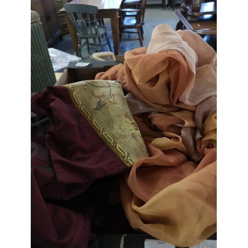 410 - Collection of miscellaneous including curtains/tiebacks etc...