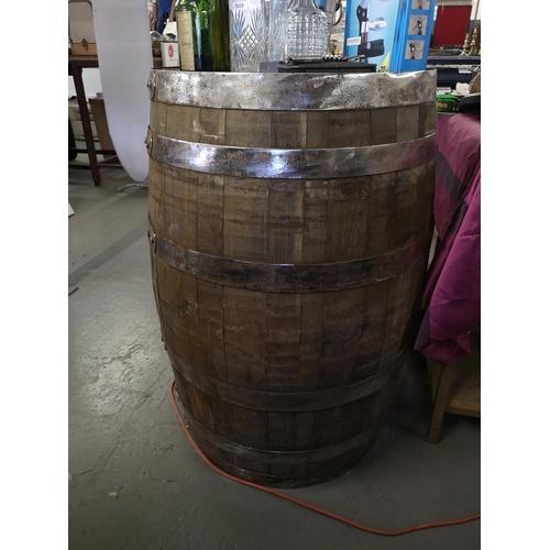 350 - Large oak whisky barrel....