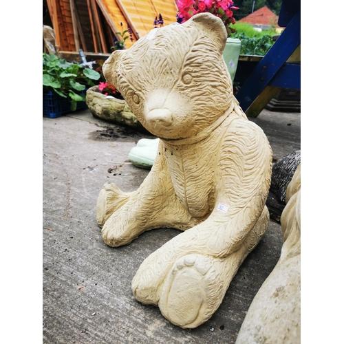 32 - Concrete garden Teddy bear, 44 cm tall....