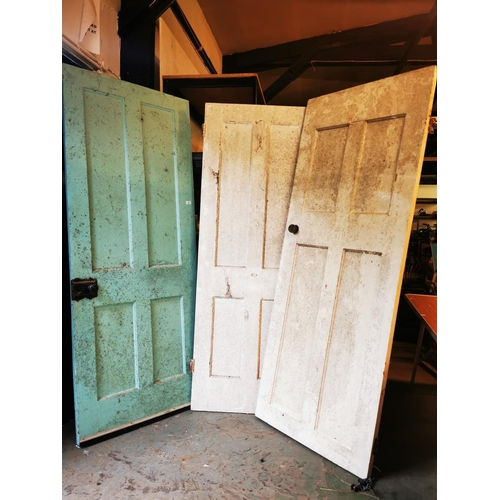 36 - 3 Vintage doors with fittings 77'' x30.5'' -  77'' x 30'' - 75.5'' x 28''...