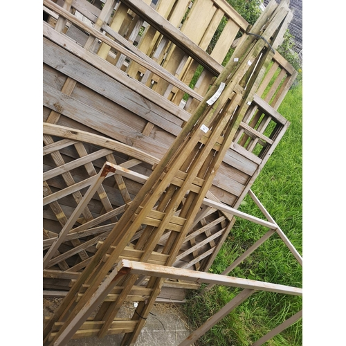 21 - Two 6' x 2 'A' frame trellis panels...