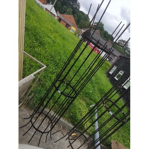 23 - Blacksmith made iron garden tree guard approx 6' 6'' tall...