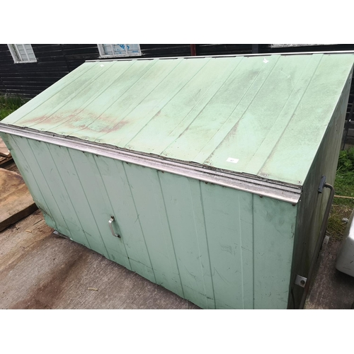 47 - Garden storage bin with lift up top appro.  6 x 3 x 4...