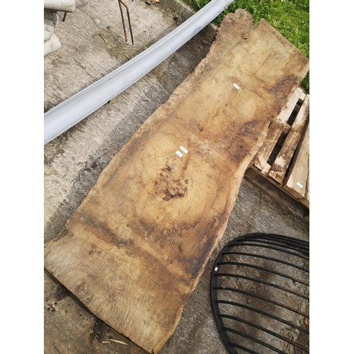 48 - 8ft x 2ft approx. Rustic - tree section plank - 3'' thick...