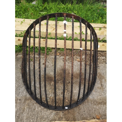 50 - Large wrought iron stable hay rack - could be used as wall planter...