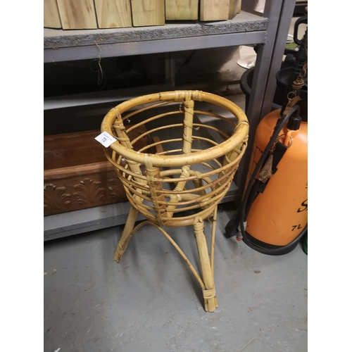 70 - Bamboo plant stand and terracotta planter...