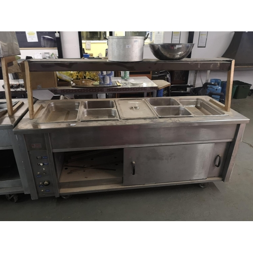 81 - Talbot caterers large electric 7 station Bain Marie...