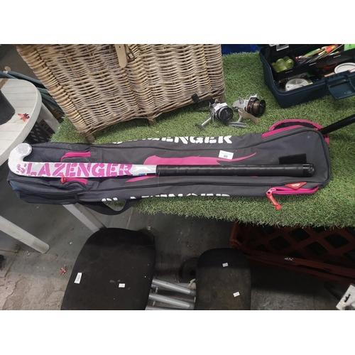 90 - Slazenger hockey stick and case...