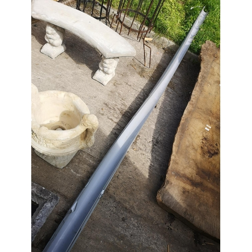 47A - Quantity of 6 x 4m length approx of grey plastic guttering...