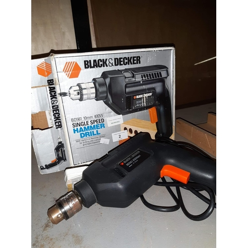 2A - Black & Decker drill complete with box and instructions. Working...