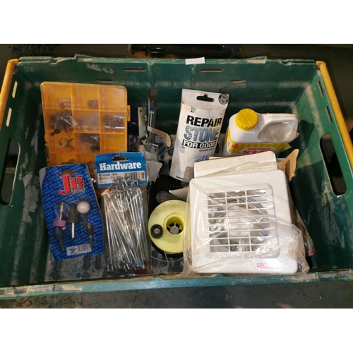 12 - Collection of items inc door latches, grinding point set....