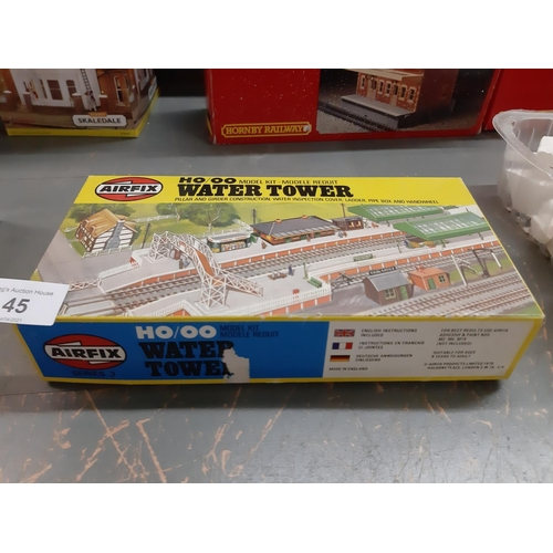 45 - Boxed Airfix water tower kit.
