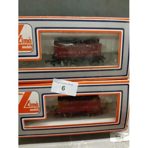 6 - Two Lima models of J K  Harrison & Co open Wagons