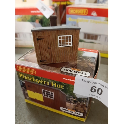 60 - Boxed Hornby Skaledale plate layers hut
