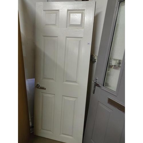 168 - heavy weight internal fire door 6ft 3inch x2ft 6 inch x 3cm in white