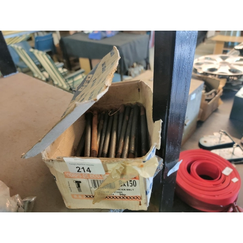 214 - box of  150mm bolts