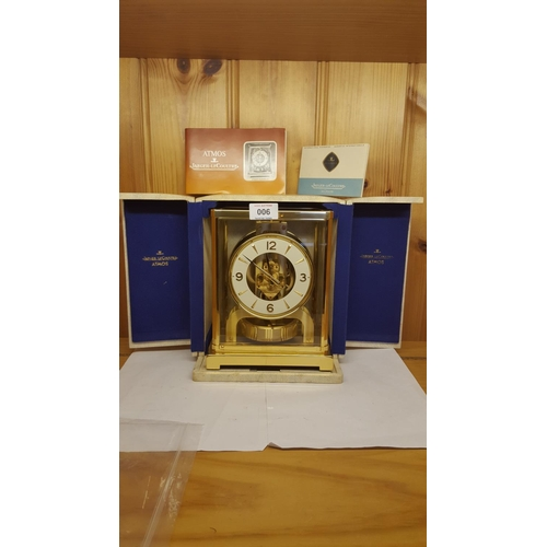 6 - ATMOS CLOCK (Original Box ,Certificate And Other Documents)...