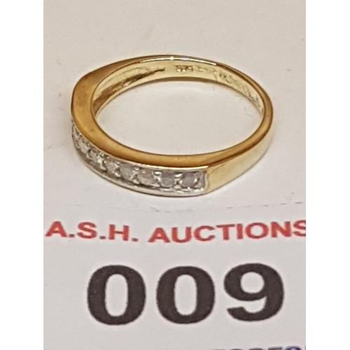9 - 9ct GOLD .0.25ct DIAMOND STONE SET RING  (With Presentation Box)...