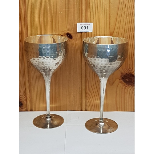 1 - PEWTER (Boxed Set Of 2) GOBLETS...