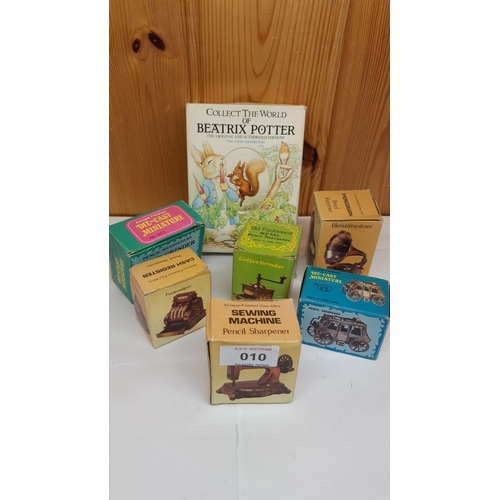 10 - BEATRIX POTTERY (Boxed Set Of Four) BOOKS Together With NOVELTY PENCIL SHARPENERS (6) (All Boxed)...