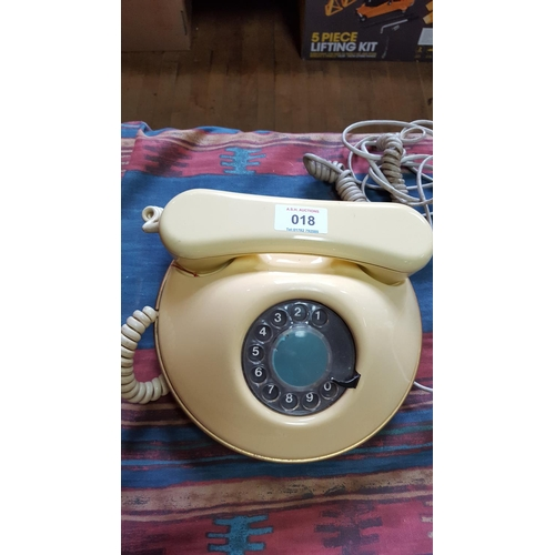 18 - IVORY COLOUR B.T. TELEPHONE c1980s...