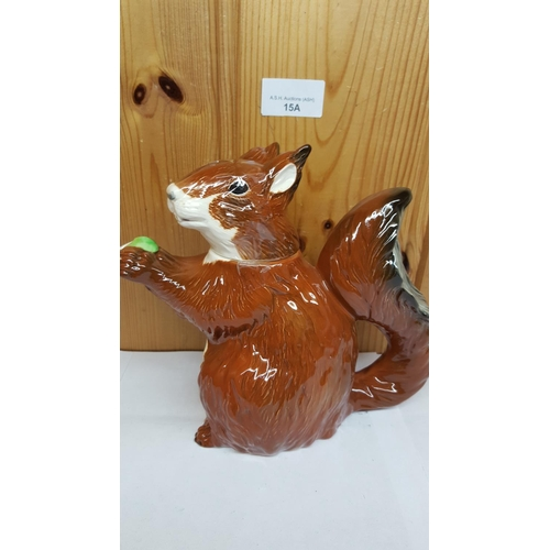 15A - BESWICK Large 18.5cm SQUIRREL TEAPOT Model No 3142 1989/90 Only Designed By Amanda Hughes-Lubeck...