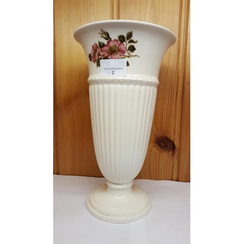 2 - WEDGWOOD Large CHINA VASE IN THE BRIAR ROSE DESIGN...