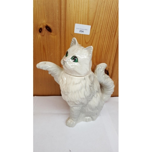 25A - BESWICK Large 18.5cm CAT TEAPOT Model No 3142 1989/90 Only Designed By Martyn Alcock...