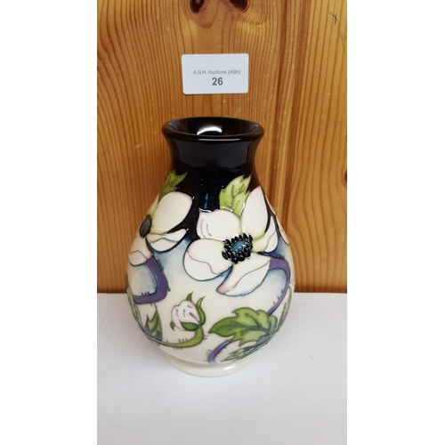 26 - MOORCROFT VASE Shape 7/5 IN THE PERSIAN PEONY DESIGN. No Edition 26. R.R.P. £290.00...