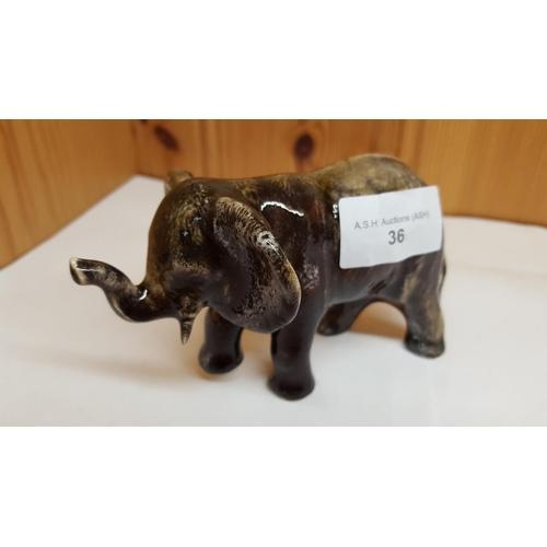 36 - ANITA HARRIS ART POTTERY Small MODEL OF AN BABY ELEPHANT...