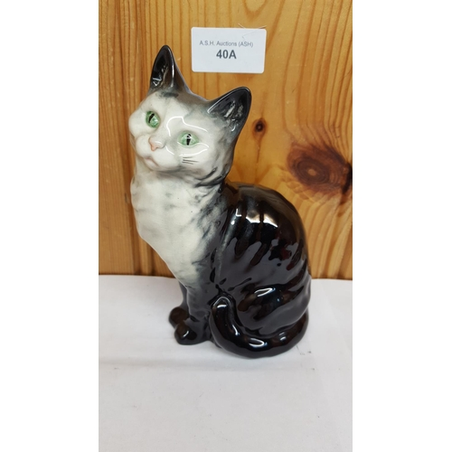 40A - BESWICK 15.9cm MODEL OF A CAT-SEATED, HEAD LOOKS UP, Model No 1030 1945/73 Designed By Arthur Gredin...