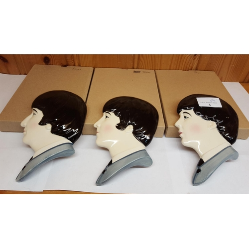 5 - MOORLAND POTTERY  BEATLES FACE MASKS (3)