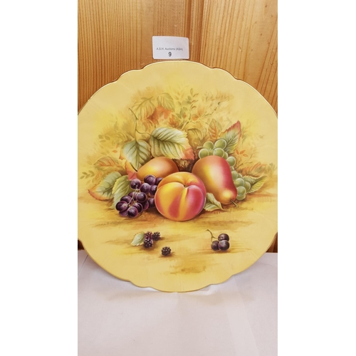 9 - AYNSLEY CHINA 26.5cm DIA. PLATE In The ORCHARD GOLD DESIGN...