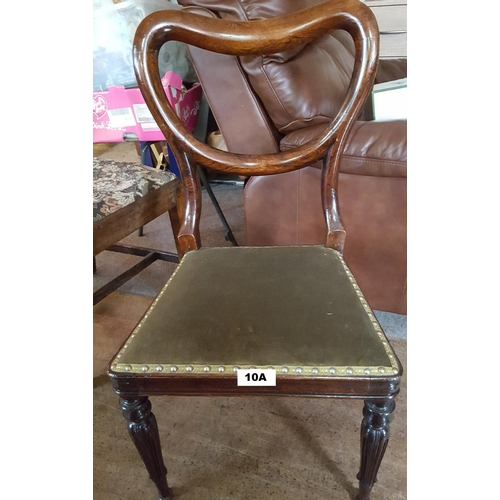 10A - EDWARDIAN DINING CHAIR...