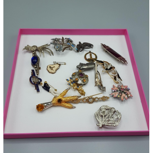 8 - BROOCHES (Qty Of)...