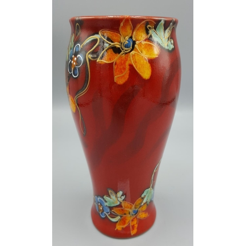 15A - ANITA HARRIS ART POTTERY VASE IN A FLORAL DESIGN (Trial Piece)...