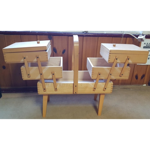 50 - CANTERLEVER  SEWING BOX ON LEGS...