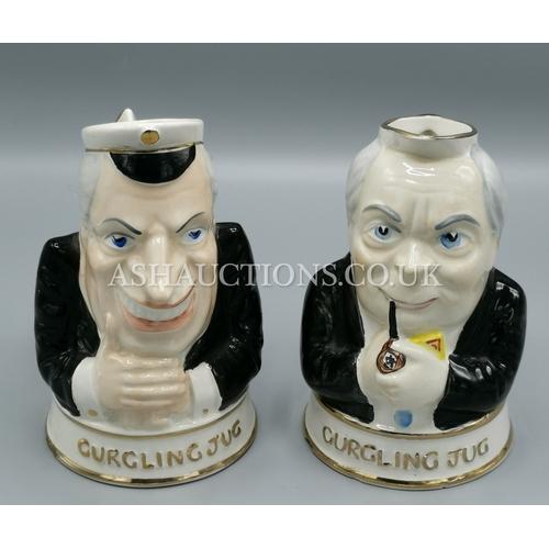 24 - PRICE KENSINGTON POLITICAL GURGLING JUGS (2)  'EDWARD HEATH' & 'HAROLD WILSON' c1970s...