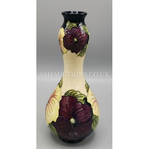 28 - MOORCROFT Large 23 cm VASE Limited Edition 25 This One Being No 09 IN THE PANSY DESIGN...