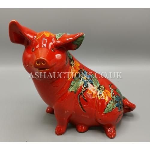 42 - ANITA HARRIS ART POTTERY MODEL OF A  PIG...
