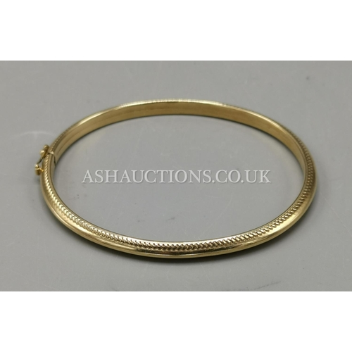 302 - PRESENTED AS A 9ct GOLD (Hallmarked) (375) BANGLE (5 Grams)...